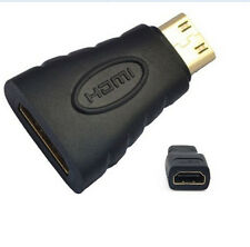 Mini HDMI(Type C) Male to HDMI(Type A) Female Adapter Connector For HDTV ONE