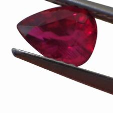 Gemas sueltas de rubíes naturales de pera
