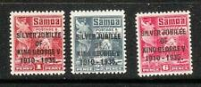 SAMOA 1935 KGV SILVER JUBILEE Sc 163-65 MINT LH