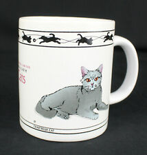 Cat Lovers Limited Collectable Cats Coffee Mug, Chartreux and Turkish Van, 8oz
