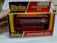 DINKY TOYS 289 ROUTEMASTER BUS ESSO RED MADE IN ENGLAND