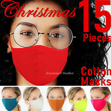 15 Piece Face Masks Men Women Christmas 100% Cotton Mask Clothing Covering Cover