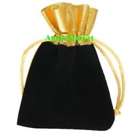 5 x velvet gift bags pouch favour wedding party ring jewelry bridal organza new