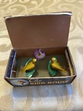 Vintage Novelty The Bird House Singing Birds In Box