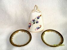 Decorative Fine China Dinner Bell By Royal Tara Ireland-2 Petite Saucers Austria