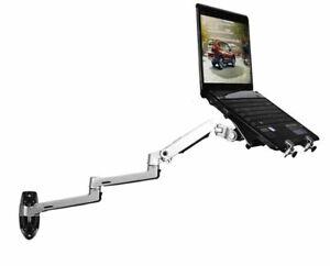 Wall Mount Laptop Holder Ultra Long Arm Aluminum Mechanical Spring Full Motion L