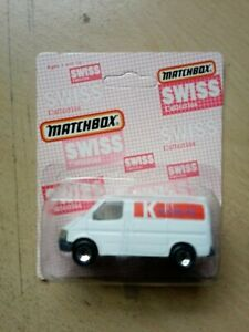 Matchbox Superfast MB60 Ford Transit Swiss Kiosk AG - China BOXED OPEN