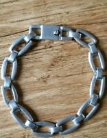 Fabulous Chunky Contemporary Modernist  Silver Bracelet  MEXICO Marks 31.9 grams