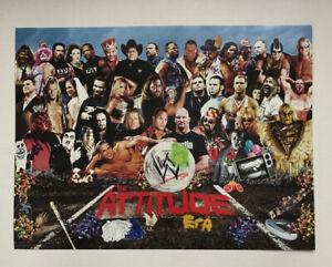 "WWF WWE Elite Attitude Era Sgt Pepper's Promo Poster Steve Austin Rock 12"" x 16"""