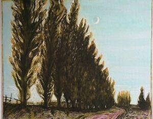 Billy Childish Poplar, Trees & Moon signed fine art print converted 1/200 + COA.
