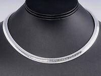 """USA Seller Italian Omega 8mm Necklace Sterling Silver 925 Best Deal Jewelry 16"""""""