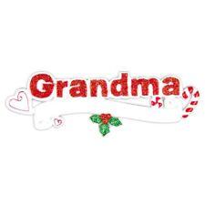 PERSONALIZED CHRISTMAS ORNAMENT FAMILY-GRANDMA