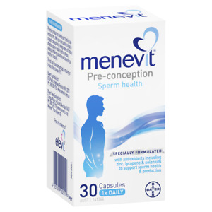 Menevit Pre-Conception Sperm Health 30 Capsules Male Fertility Supplement