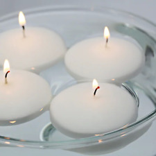 "Unscented 3"" Floating Disc Candles - White, Set of 12"