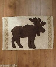 Mose Lodge Northwoods Woodland Pinecone Rug Bath Decor