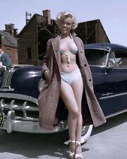 Marilyn Monroe in Bikini With 1951 Pontiac Chieftain #1009 4x6