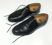 Mens Clarks Formal Leather Lace Up Shoes UK Size 7 Black Extra Wide Fit