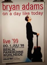 Bryan Adams On a day like today 1999 Original Tour Concert poster