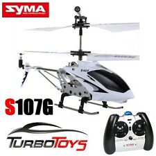 NEW - SYMA S107G 3CH MINI GYRO HELICOPTER - WHITE - RTF- AUS SELLER - AUS STOCK