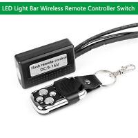 Fog Spot Light LED Light Bar Remote Control Switch Wireless ON/Off Strobe Flash