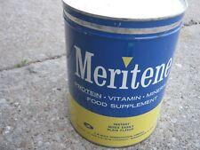 Original Vintage Meritene Protein Vitamin Mineral Food Supplement Tin Can 5 lbs