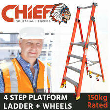 CHIEF 4 Step Fibreglass Platform Ladder