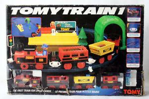 RARE VINTAGE 80'S TOMYTRAIN1 TOMY TRAIN B/O NEW NOS ENGINE NEEDS REPAIR