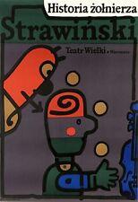 Original opera Polish poster by Mlodozeniec