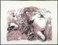 """DDR-Kunst """"Weib und Drache"""" 1990. Lithogr Ellen FUHR (1958-2017 D), handsigniert"""