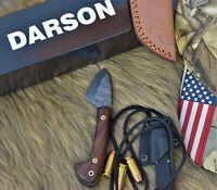 "Handmade Damascus Steel Mini Hunting knife 5"" Small EDC Rose Wood Handle..DST005"