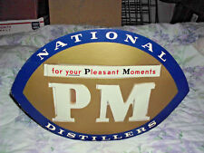 ANTIQUE 1940s NATIONAL DISTILLERS STORE DISPLAY LIGHTED SIGN PLEASANT MOMENTS PM