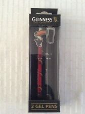 Guinness 2 Gel Pen Set with Toucan and Pint Glass Lid Clips In Box
