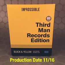 Impossible Project Third Man Records Edition Duochrome Black & Yellow Film OOP