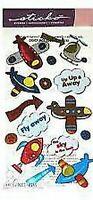 FLY BOY Metallic Toy - Sticko Stickopotamus Scrapbooking Craft Sticker SALE