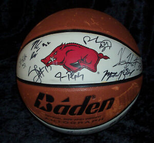 AWESOME 2007-08 Arkansas Razorbacks Team Signed Basketball HOGS NCAA NBA STARS