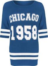 Maglie e camicie da donna a manica corta blu, taglia 46