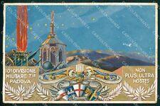 Militari 10ª Divisione Territoriale Padova ABRASA PIEGHINE FG cartolina XF4079
