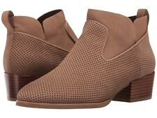 VIA SPIGA 'Tricia' Perforated Bootie, Brown Nubuck 7 M