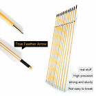 "US 6Pcs 30"" CedarWooden Arrows OD 8.5mm With Turkey Feather Archery Bow Hunting"