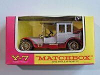 Matchbox Models of Yesteryear Y-7 1912 Rolls Royce Mint in Box Lesney 1:48 Scale