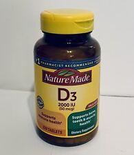 Nature Made Vitamin D3 50mcg 2000 IU 220 Tablets EXP: 03/2022 NEW/SEALED