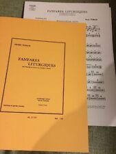 H. Tomasi Fanfares liturgiques pour cuivres, timbales batterie partition Leduc