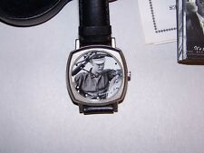 Elvis on Harley Motorcycle  Watch with Leatherette Case