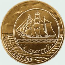 Poland / Polen - 2zl History of the Polish Zloty: Sailing Vessel - 2 zloty and 5