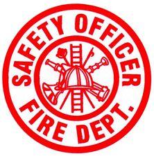 Firefighter Decal/Sticker Round SAFETY OFFICER