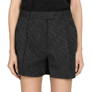 3.1 Phillip Lim Womens Bermuda Shorts High Waisted Buttoms Black Cuffed Size 6