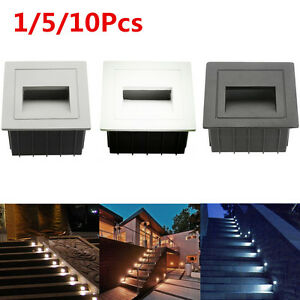 85-265V 3W Outdoor Wall Plinth Recessed Stair Step Hall Lamp Corner Deck Lights