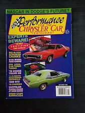 Chrysler Car Oct 1992 - 1971 Plymouth Road Runner  Barracuda  1970 Dodge Charger