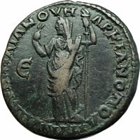 CARACALLA & JULIA DOMNA Marcianopolis Ancient 198AD Roman Coin DEMETER i78983