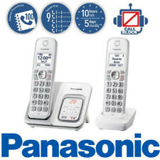 Panasonic Cordless Phone Call Block Answering System 2 Handsets White KX-TGD532W